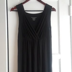Maternity black maxi dress